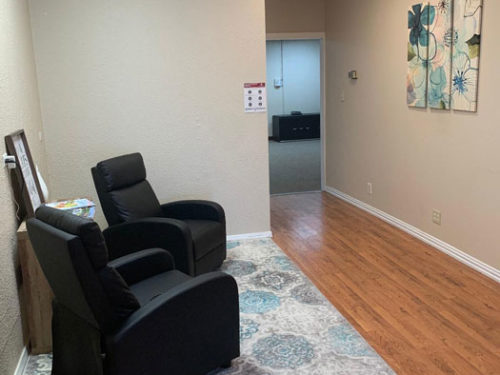 Waiting Area of our chiropractic studio